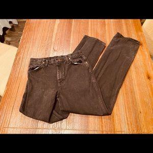 Brown Wrangler Jeans Size 32X34